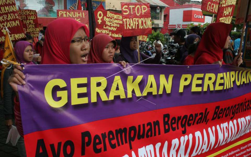 International Women's Day rally in Yogyakarta (Antara)