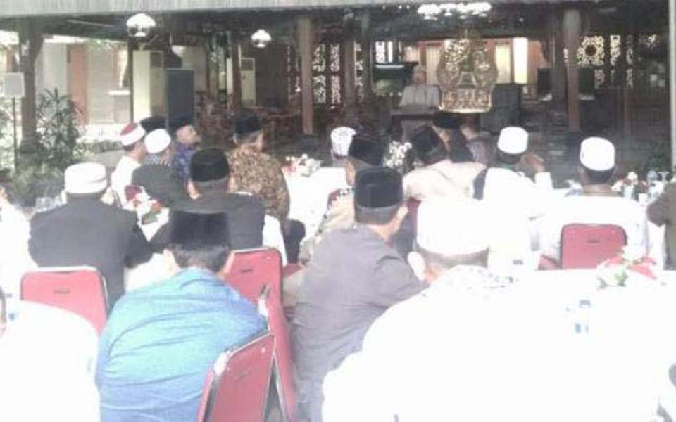 Achenese ulama meeting with Susilo Bambang Yudhoyono (Tribune)
