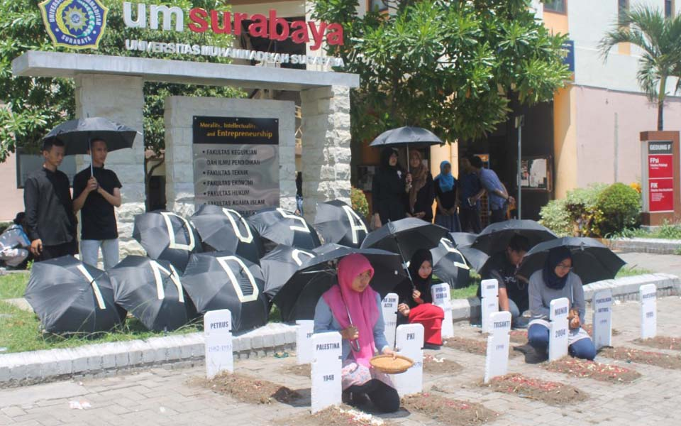 Human Rights Day commemoration in Surabaya (Kabar Surabaya)