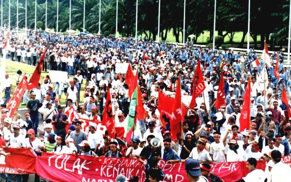 People's Democratic Party rally in Jakarta (PRD)