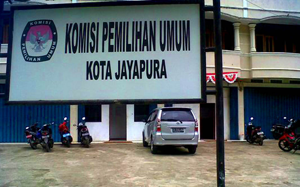 General Election Commission office in Jayapura (Tabloid Jubi)