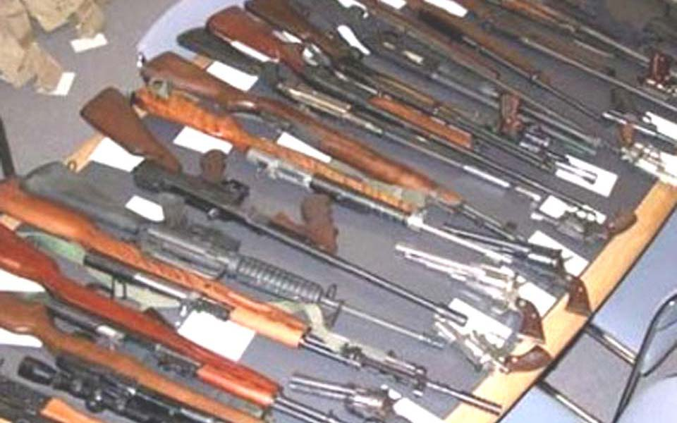 Illegal weapons seized by military in Aceh (108 Jakarta)