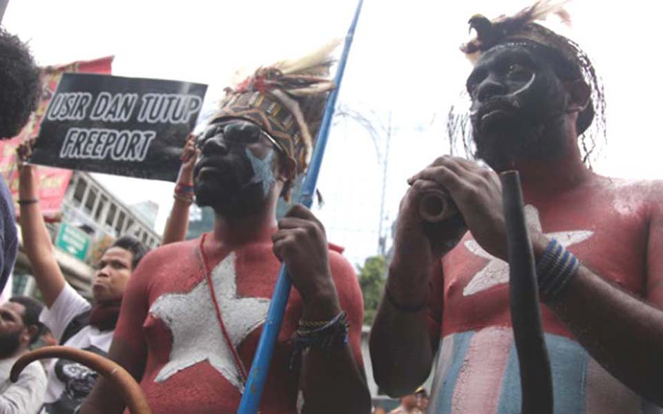 West Papuans hold protest in Jakarta (Tempo)