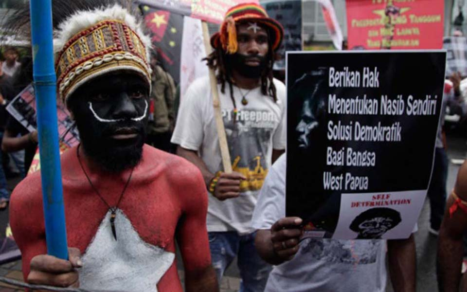 West Papuans protest in Jakarta (Tempo)