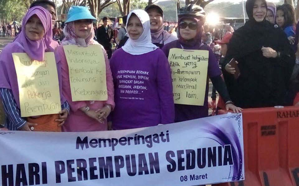Women commemorate International Women's Day in Aceh (Potret Online)