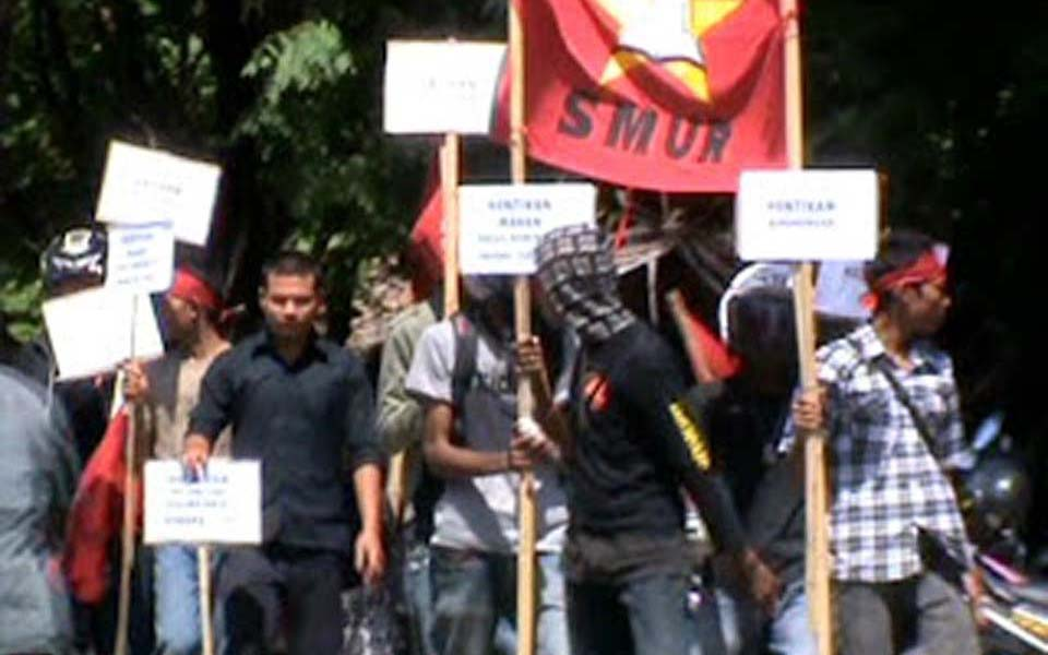 Aceh People's Party and Student Solidarity for the People rally (PRA)