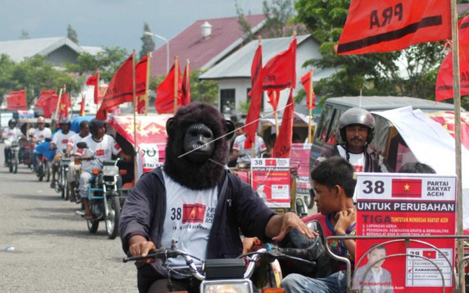 Acehnese People's Party rally (Antara)
