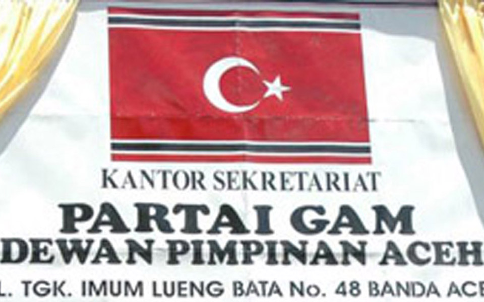 Free Aceh Movement Party secretariat office sign (ibrahimkbs)