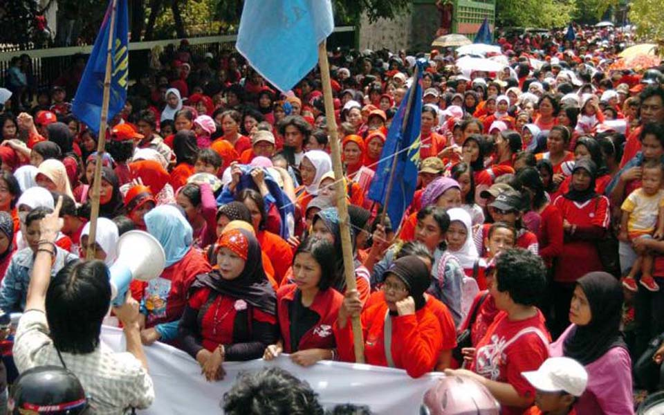 Papernas members hold rally in Makassar (Antara)