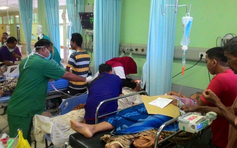 Patients being treated at Zainoel Abidin Public Hospital (RRI)