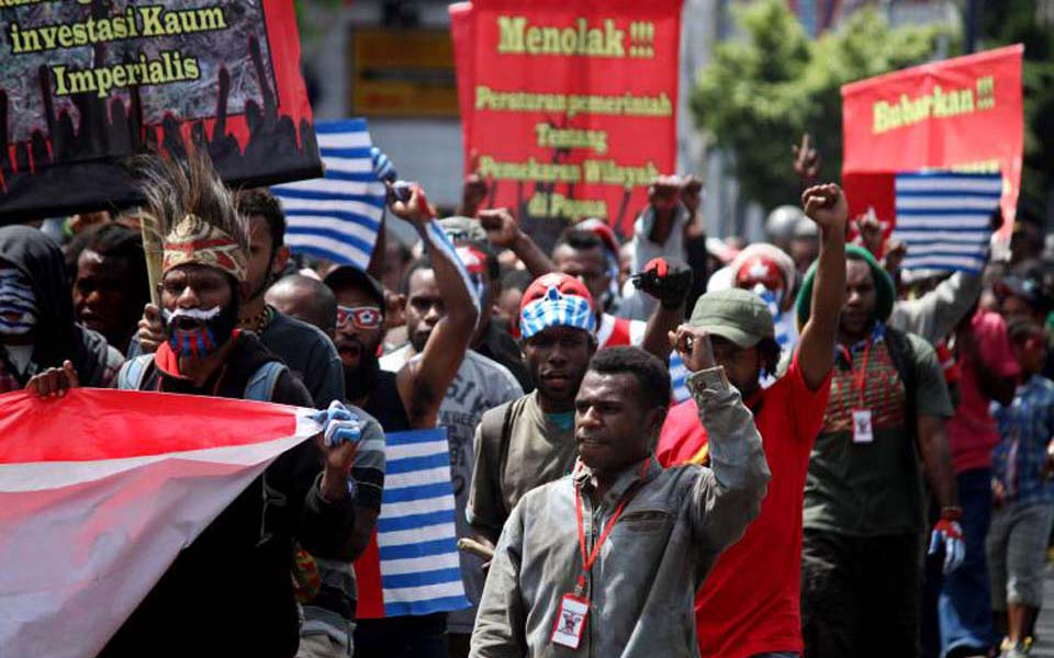 West Papuan students rally for independence in Yogyakarta (hariansib)