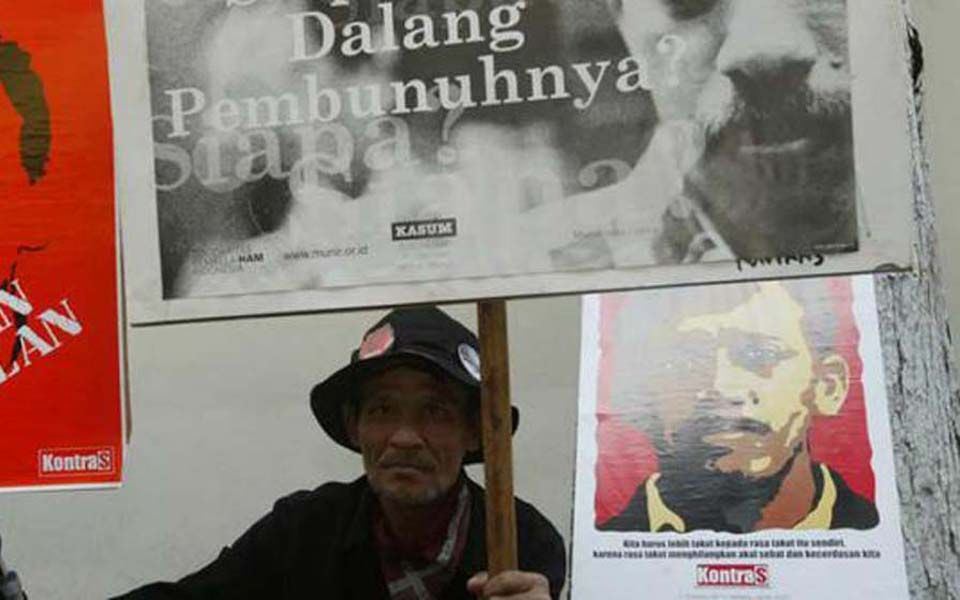 Kontras protest calling for justice in Munir case (Merdeka)