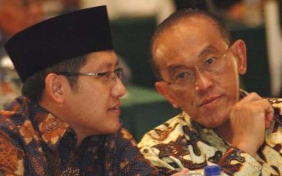 Anas Urbaningrum and Aburizal Bakrie (Viva)