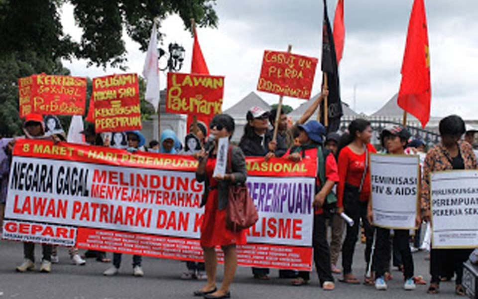 International Women's Day rally (Perempuan Mahardhika)