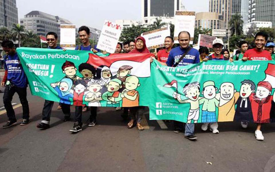 March in support of religious tolerance in Jakarta (Liputan 6)