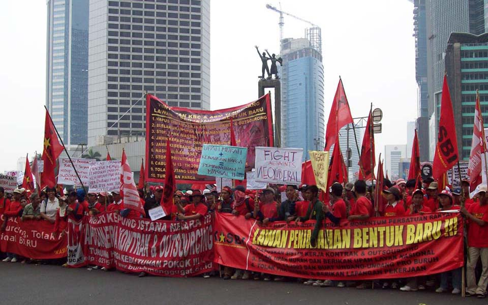 Workers Challenge Alliance (ABM) rally in Jakarta (usyd.edu)