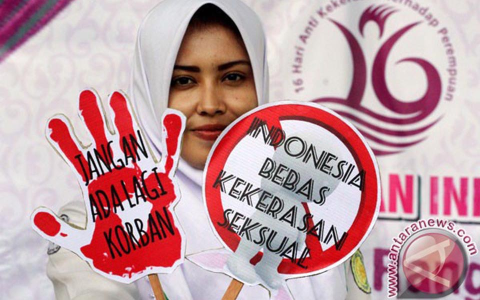 Campaign against violence against Women in Lhokseumawe (Antara)