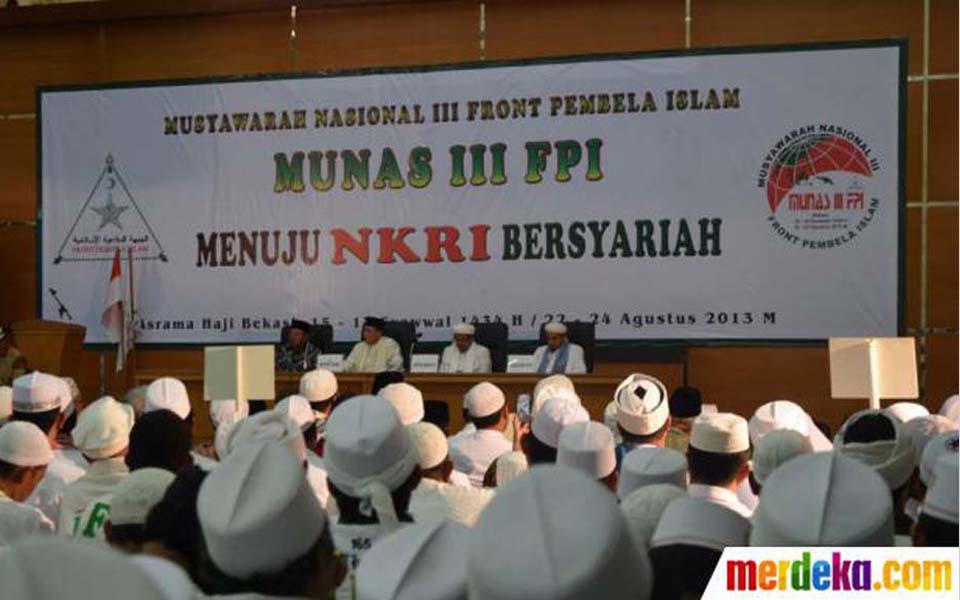 FPI 3rd National Conference in Bekasi - August 23, 2013 (Merdeka)