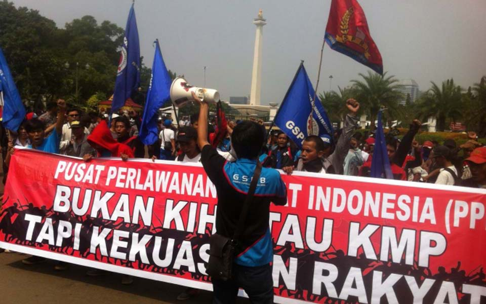PPRI demonstrate at State Palace in Central Jakarta - May 20, 2015 (Citra)