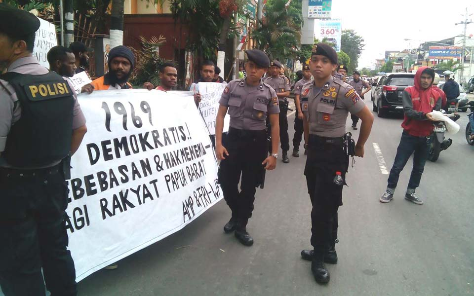AMP and FRI-West Papua protest against 1969 Pepera in Yogyakarta - August 2, 2017