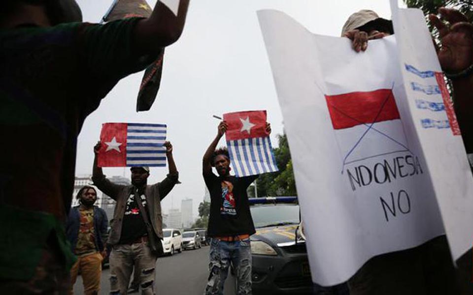 Papuan pro-independence activists protest in Jakarta (CNN)