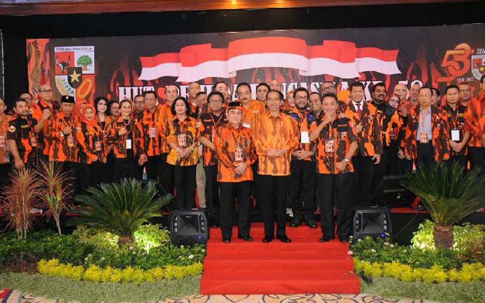 Widodo and MPR leaders attend 58th PP anniversary - October 28, 2017 (dok MPR)