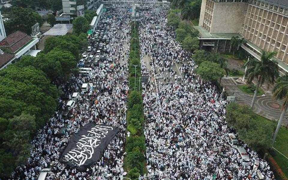 212 Reunion rally on Jl MH Thamrin in Central Jakarta - December 2, 2018 (Antara)