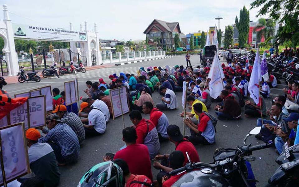 ABA workers commemorate May Day in Banda Aceh - May 1, 2018 (Kumparan)