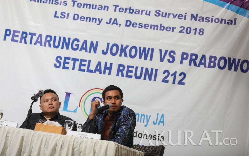 Researcher Adjie Alfaraby and moderator Ade Mulyana – December 19, 2018 (Akurat)
