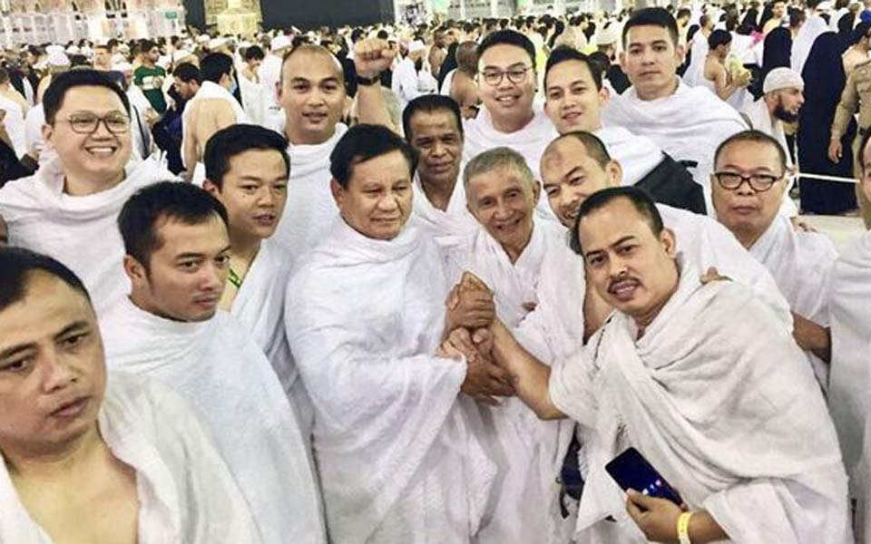 Prabowo Subianto pictured in Mecca - June 2018 (Istimewa)