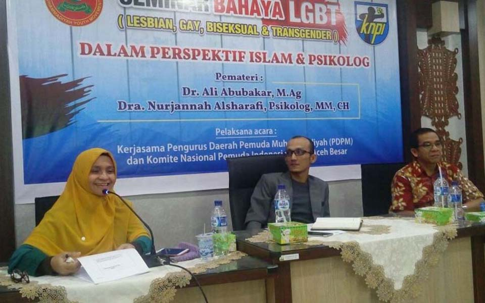 Aceh seminar on the dangers of LGBT - February 11, 2018 (Dakta)