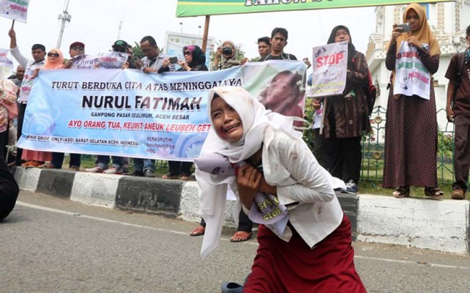 Acehnese activists protest 'sexual violence emergency' – October 5, 2018 (Antara)