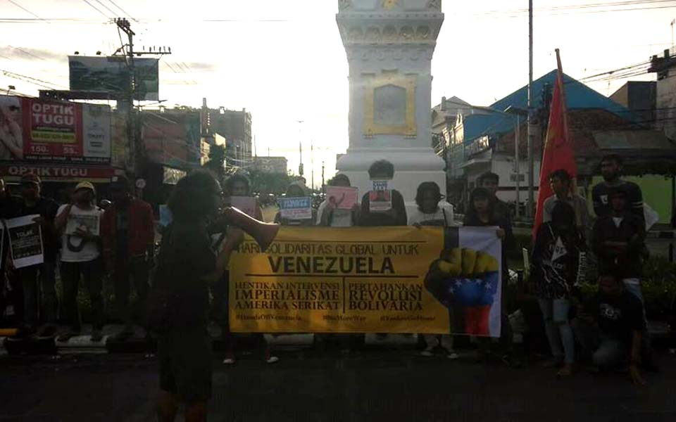 Global Solidarity Day for Venezuela in Yogyakarta – March 18, 2019 (Arah Juang)