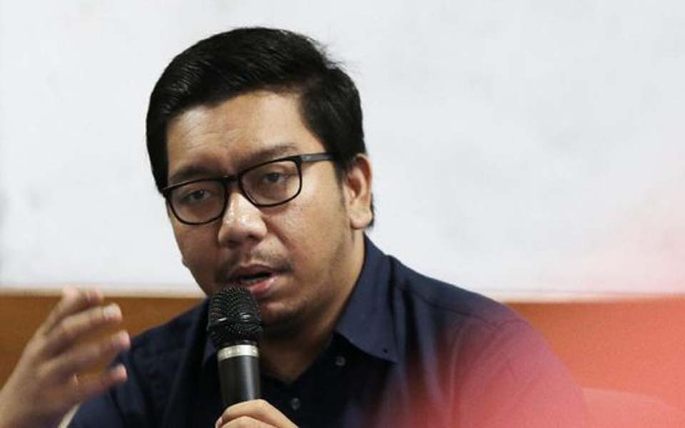 Indonesian Corruption Watch researcher Kurnia Ramadhana (CNN)