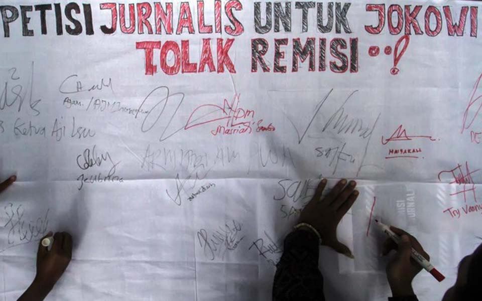 Journalists sign petition against remission for Susrama – January 26, 2019 (Antara)
