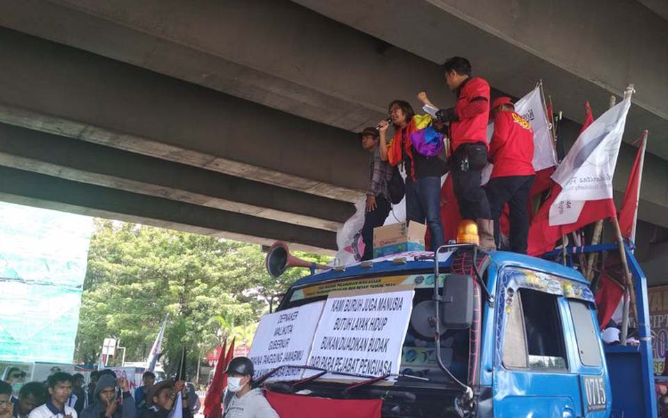 Labour Movement Alliance May Day rally in Makassar – May 1, 2019 (Kompas)