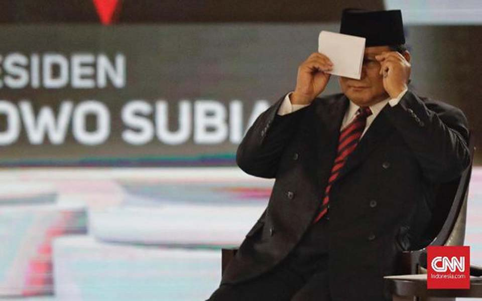 Presidential hopeful Prabowo Subianto (CNN)