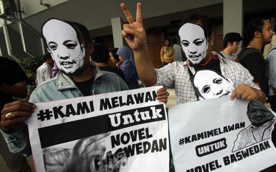 Protest action supporting Novel Baswedan's fight for justice (Tribune)