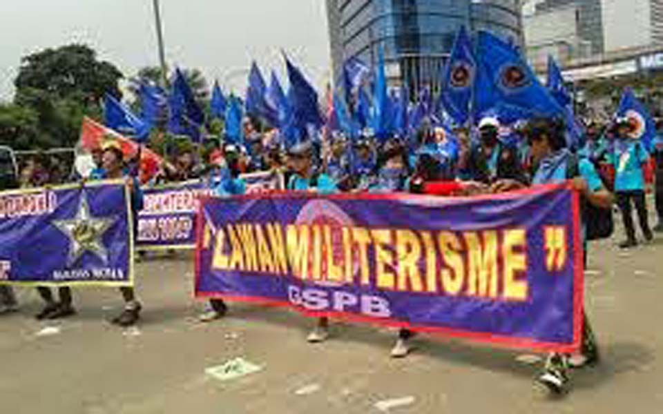 Solidarity Alliance for Labour Struggle rally in Jakarta (Perjuangan Kelas Buruh)