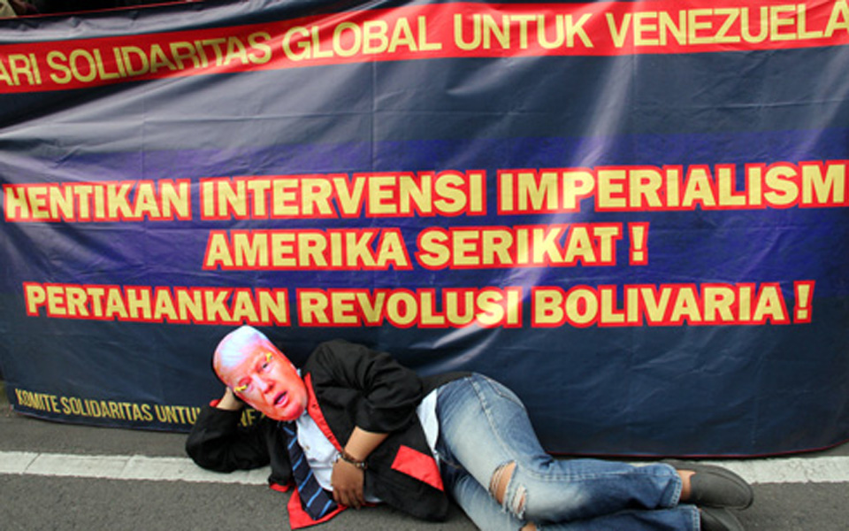 Solidarity Committee for Venezuela rally in Bandung – March 18, 2019 (Kabar Kampus)
