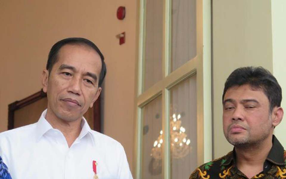 Widodo and KSPI President Said Iqbal at State Palace – September 30, 2019 (CNN)