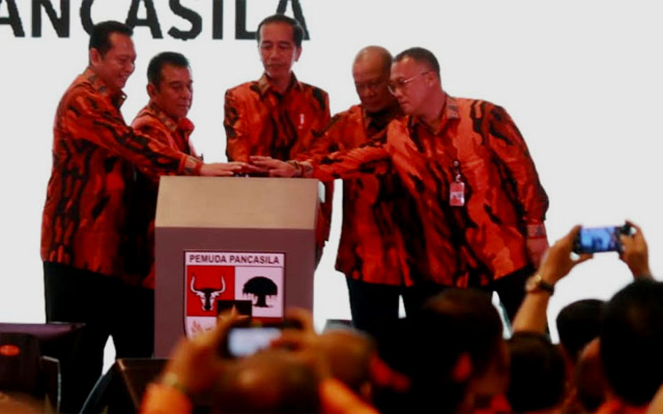 Widodo takes part in opening of Pancasila Youth 10th Convention – October 26, 2019 (ist)