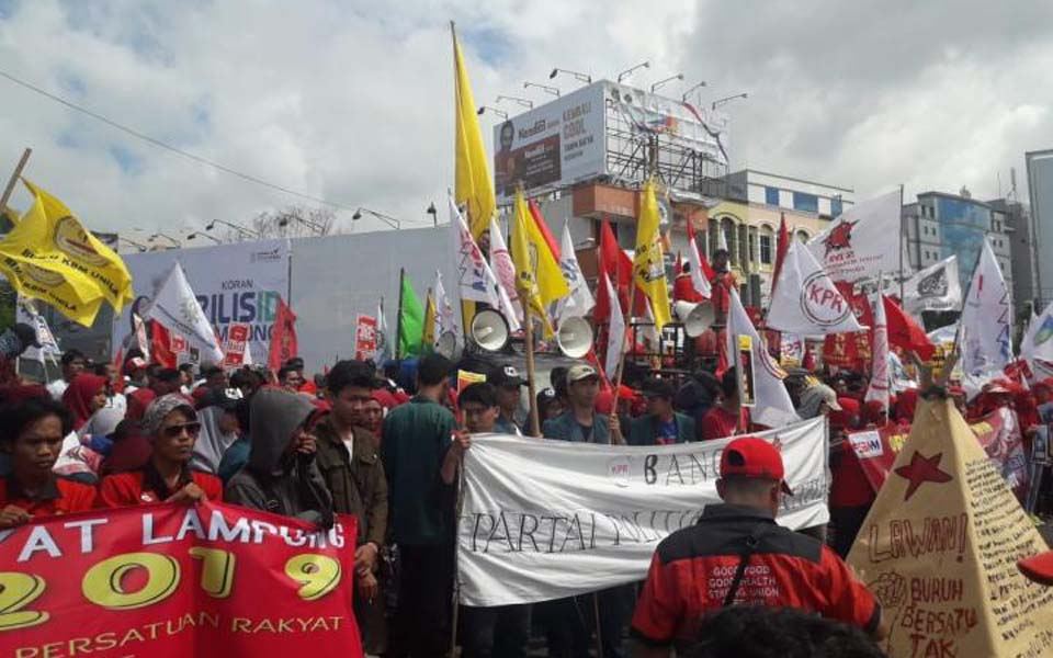 Workers commemorate May Day in Lampung – May 1, 2019 (Saibumi)