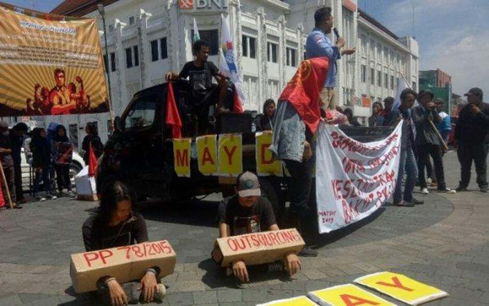 Yogyakarta Labour Alliance May Day rally at Zero Kilometre – May 1, 2019 (Tribune)