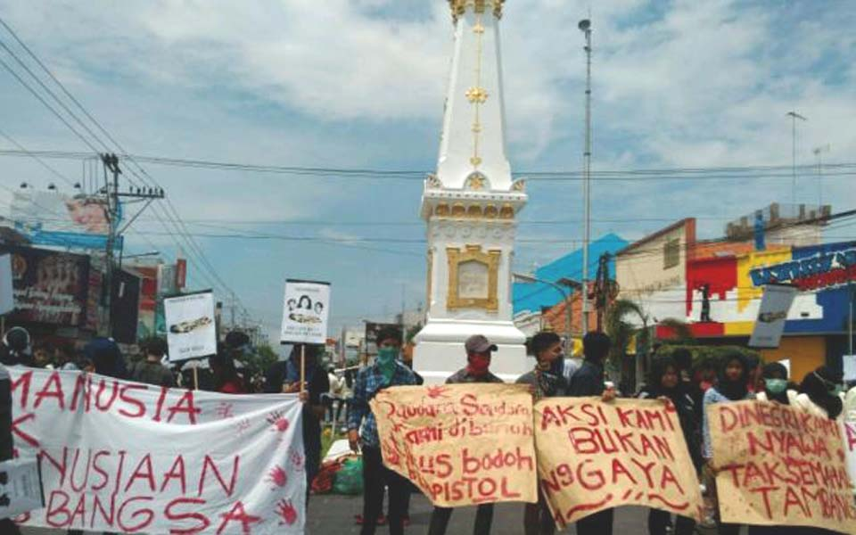 International Human Rights Day rally in Yogyakarta (Tribune)