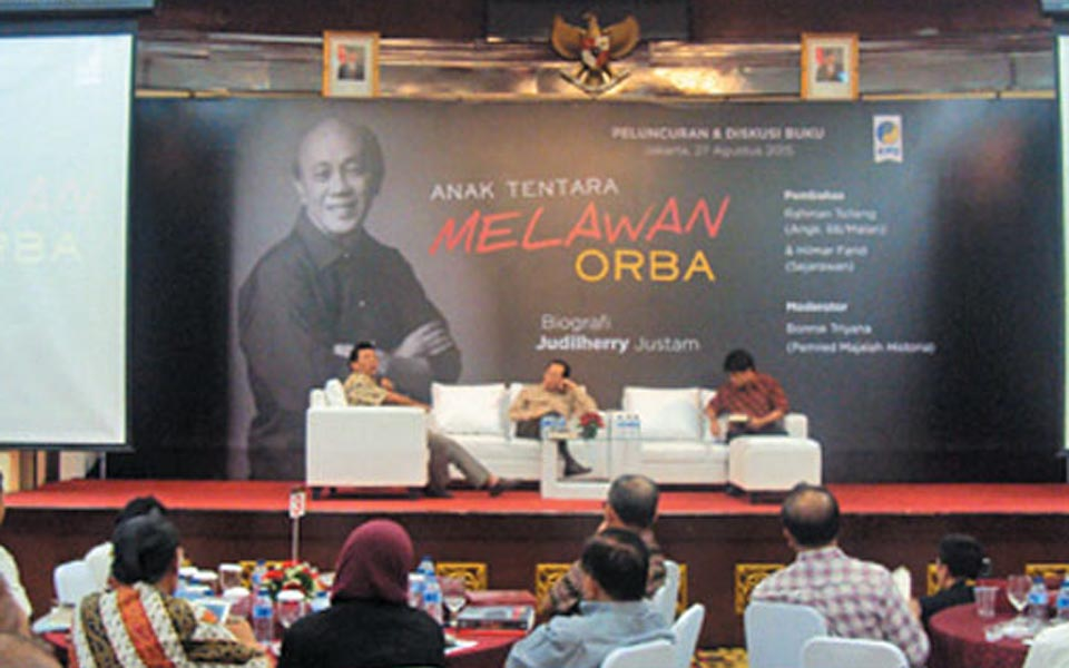 Judilherry Justam at launch of book 'Military Fights Orba' (Sindo News)