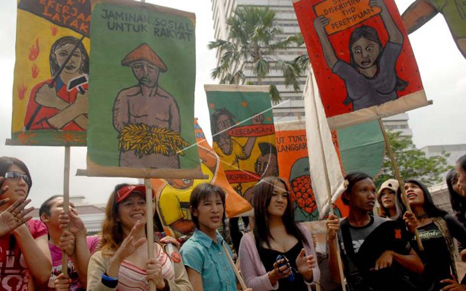 LGBT people commemorate Human Rights Day in Jakarta (Antara)