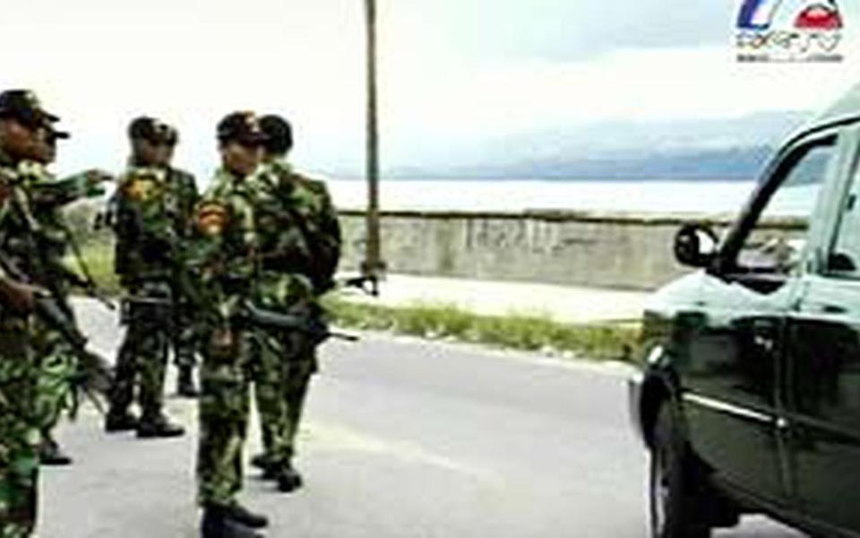 Military checkpoint in Aceh (Liputan 6)