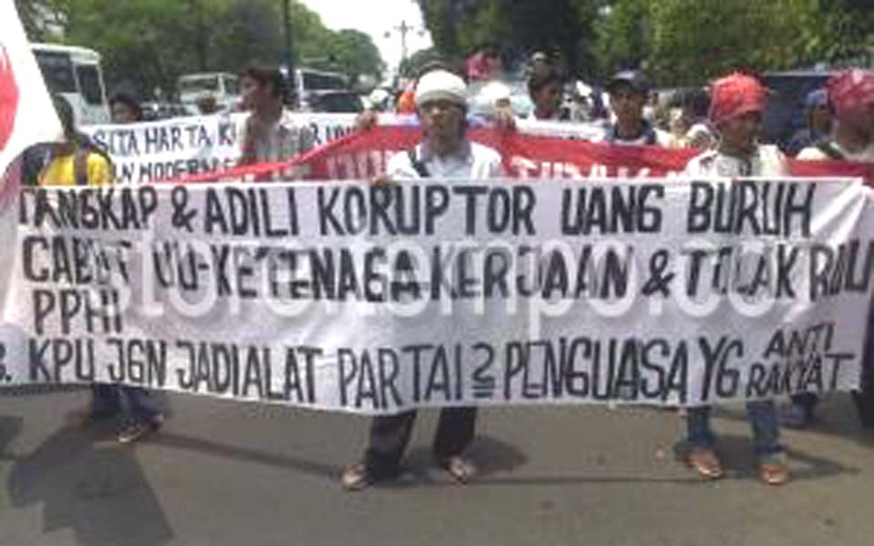 People's United Opposition Party rally in Jakarta (Tempo)