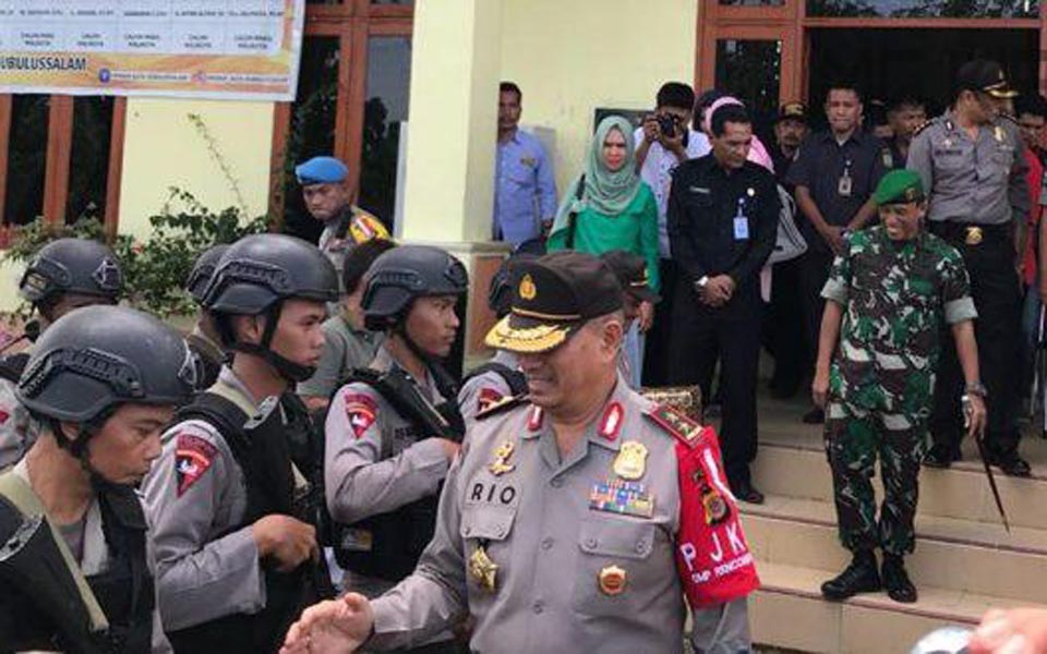 Police in Aceh preparing for deployment during elections (Aceh Prov)